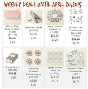 Weekly Deals until April 20, 2015