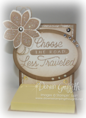 Choose the road less traveled post it note holder #1