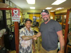 Eugene and Richard  after Tattoo in Hawai #2