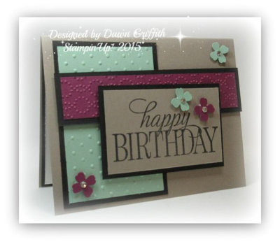 Happy Birthday Block card #1