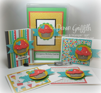 Emergency Birthday card kit goodies Dawn Griffith
