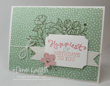 Birthday Blooms card from Founders Circle 2015