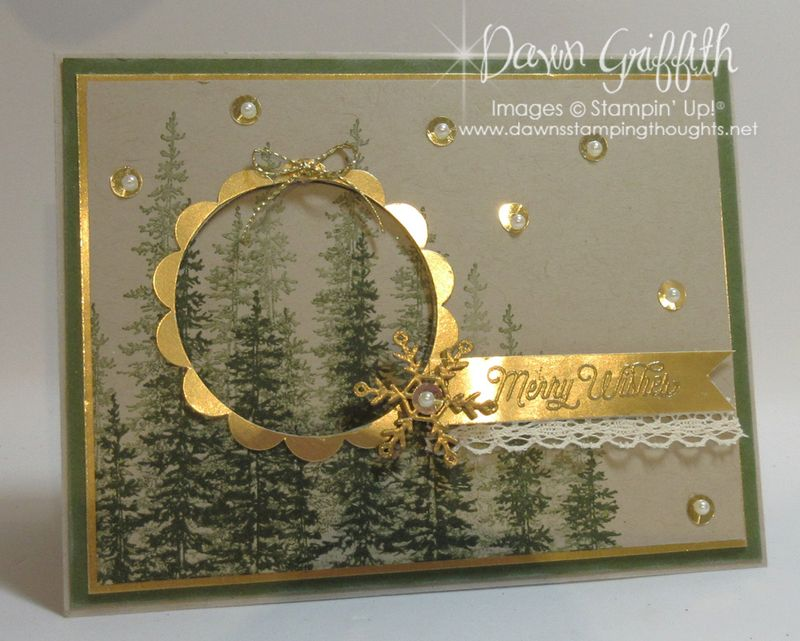 Merry Wishes Christmas card  front  Dawn Griffith Stampin'Up!