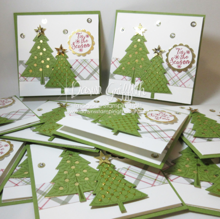 Peaceful Pines cards for downline goals for Nov 2015