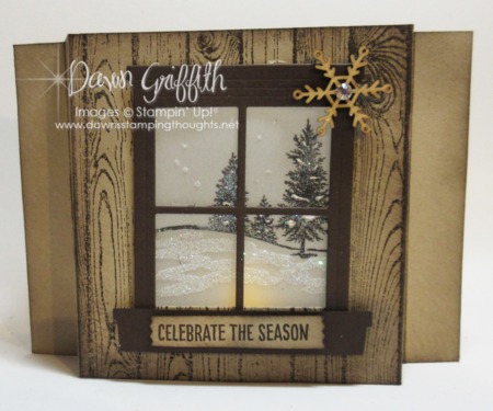 Celebrate the Season Luminary Shadow Box card  Dawn Griffith Stampin'Up!