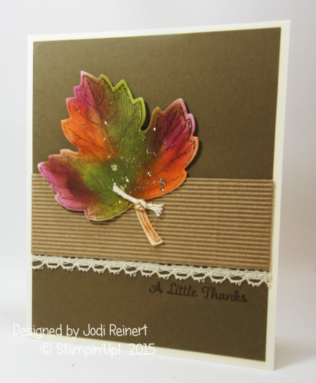 A Litte Thanks  swap card from Founders Circle  2015  Stampin'Up!