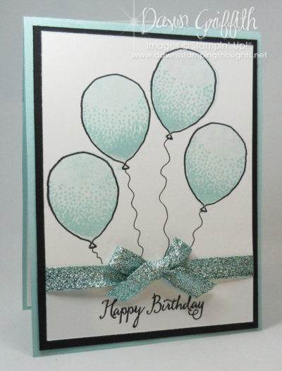 Happy Birthday Balloon Celebration  stamp set Dawn Griffith Stampin'Up! Occasions catalog 2016