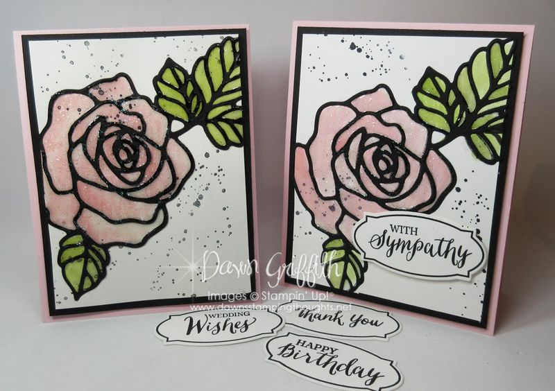 Rose Wonder cards with Crystal Effects by Dawn Griffith Stampin'Up!