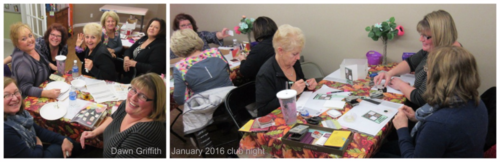 January 2016 Stampers club night #1
