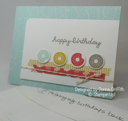 Birthday card from Donna Griffith #Imbringingbirthdaysback