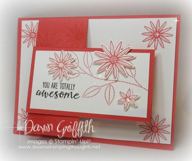 #1 Grateful Bunch stamp set  Watermelon Wonder Flap card Dawn Griffith Stampin'Up!