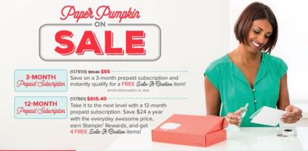 Sale a bration and Paper Pumpkin