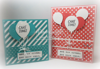 #1 Cake Time Cards Dawn Griffith Stampin'Up! Demonstrator Sale-a-Bration and Occasions catalog 2016