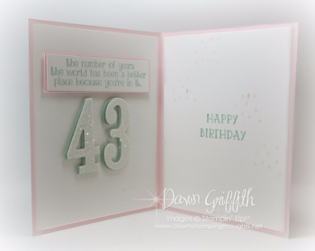 #1 Number of Years inside  Dawn Griffith Stampin'Up! Demonstrator 2016  Occasions catalog