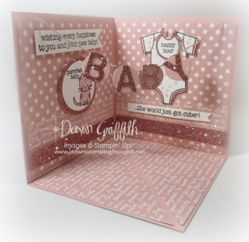 #3 Baby corner pop up card by Dawn Griffith Stampin'Up! Demonstrator More details on my blog