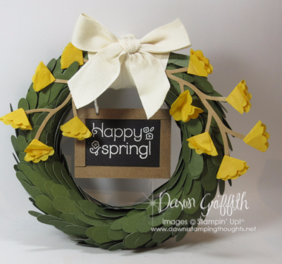 Happy Spring Wreath from April's Paper Pumpkin Kit