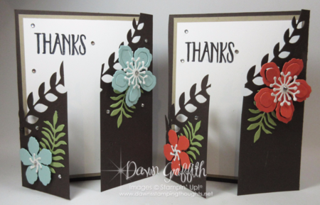 Botanical Framelits  fancy gate fold card more details and video posted on my blog Dawn Griffith Stampin Up demonstrator