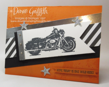 One Wild Ride Dawn Griffith Million Dollar stamp set  Basic Black and Pumpkin Pie  more details on my blog
