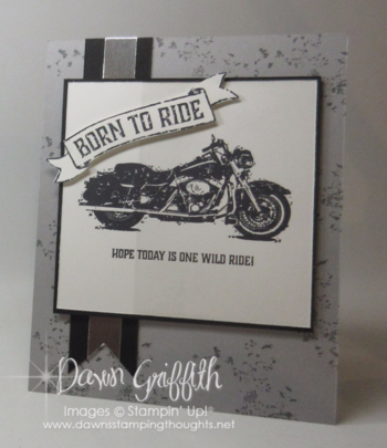 Modified Z Fold card One Wild Ride Dawn Griffith viideo posted on my blog today
