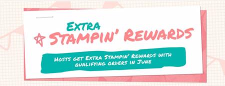 Extra Stampin Rewards June 1 through June 30 2016
