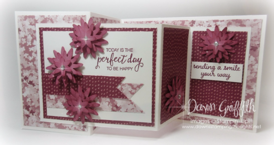 #1 Bossom Bunch Punch Today is a perfect day to be HAPPY  Sweet Sugarplum by Dawn Griffith Stampin' Up Demonstrator  video on this card is posted on