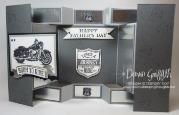 One Wild Ride display card fro my Father In Law for Fathers Day Dawn Griffith Stampin'Up! Demonstrator