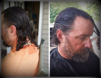 Before and After hair cut July 4, 2016