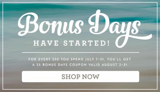 Bonus Days have started