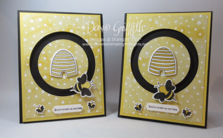 Spinner Bee cards with Shooting Star stamp set with Sliding Star framelits  Dawn Griffith
