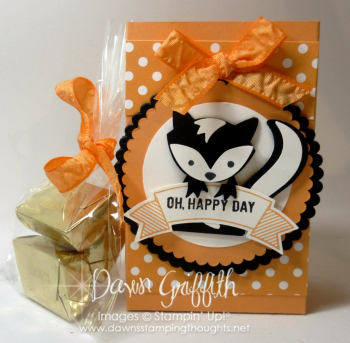 #1 Fox Builder punch Skunk Peekaboo Peach treat bag