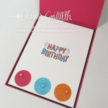 Lets Celebrate Birthday card  inside  Dawn Griffith
