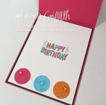 Lets Celebrate Birthday card  inside  Dawn Griffith