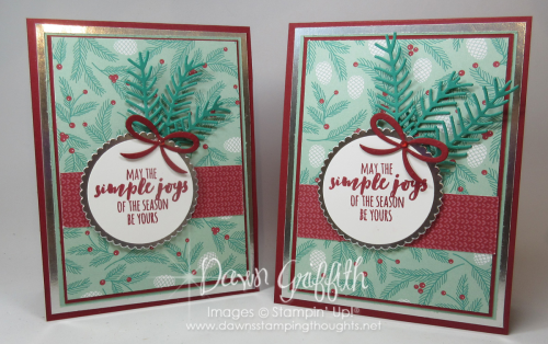 Christmas Pines cards Dawn Griffith
