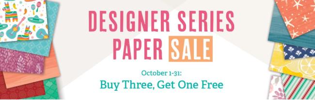 Designer Series Paper SALE  buy 3 get 1 free