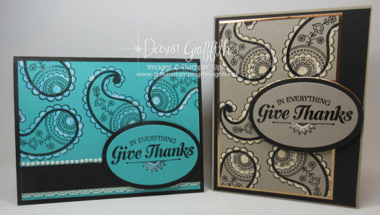 Paisleys and Posies  Give Thanks cards Tip Top Taupe and Bermuda Bay  Dawn Griffith