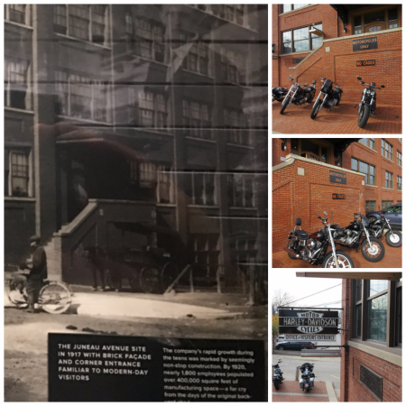 1917 and today Harley Davidson Corporate office