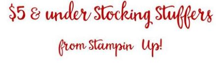 Under $5 stocking fillers
