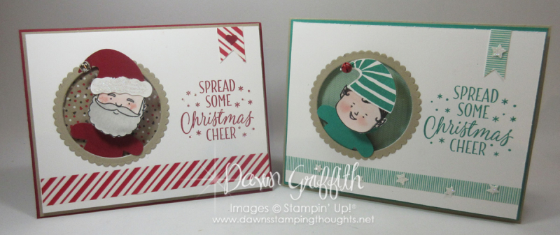 Christmas Cheer Action Wobble  cards Dawn Griffith