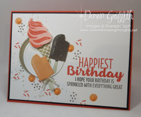 Pop up birthday card Front #5 Dawn