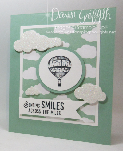 Sending Smiles card for Peggy's workshop Dawn Griffith