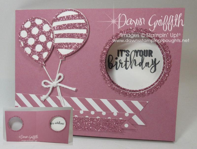 Peekaboo Slider window card Sweet Sugarplum Dawn Griffith