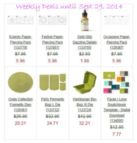 Weekly Deals until Sept 29, 2014 #1