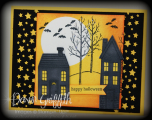 Spooky stars night card