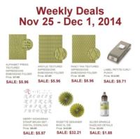 Weekly Deals until Dec 1, 2014