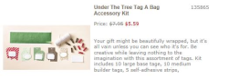 Under the Tree  Tag a Bag kit