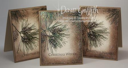 Ornamental Pines embossed