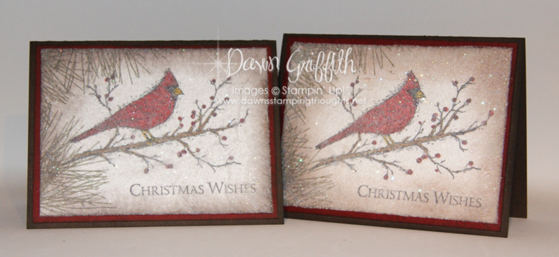 Christmas Wishes dryer sheet cards