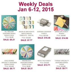 Weekly deals until Jan 12, 2015
