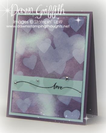 Bokeh Hearts card #1