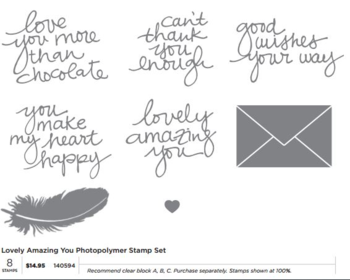 Lovely Amazing YOU stamp set # 140594